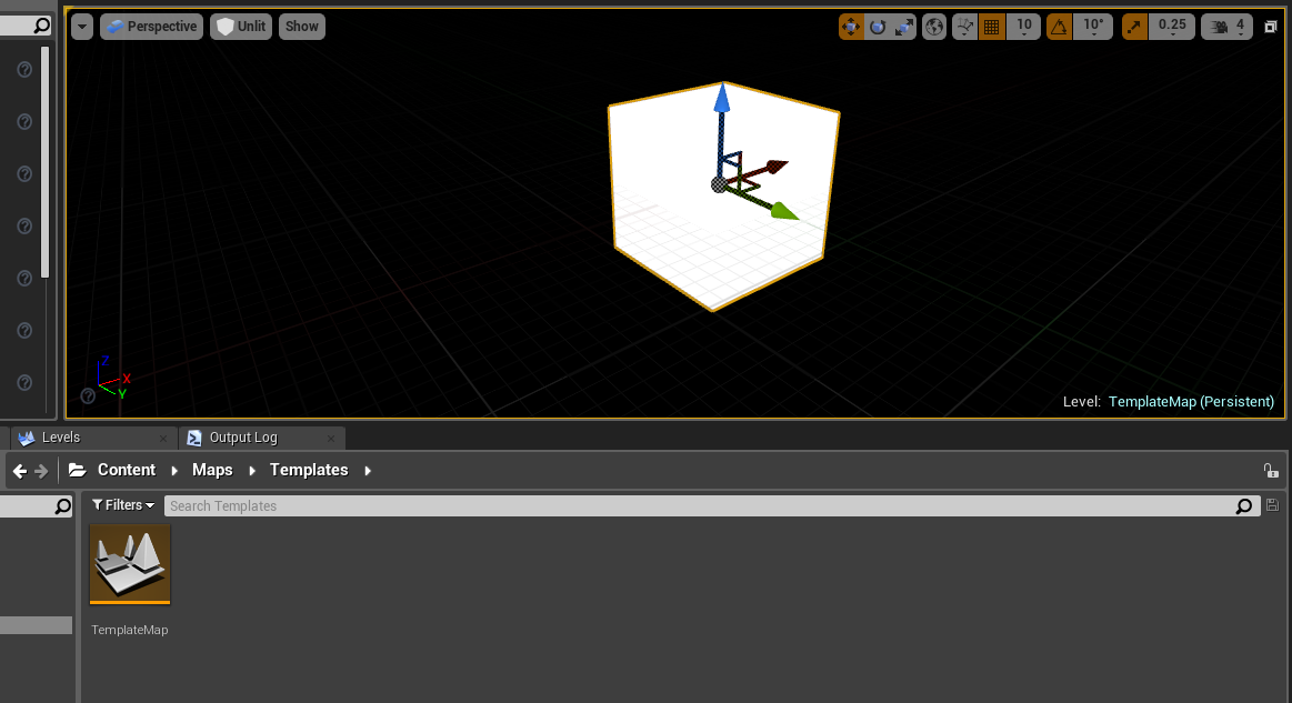 Add Custom Map Templates to Unreal Engine 4