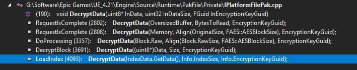 Reverse Engineering AES Keys From Unreal Engine 4 Projects